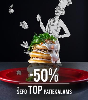 Šefo TOP patiekalams -50%