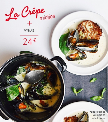 """""""La Crepe"""" midijos + vynas"""