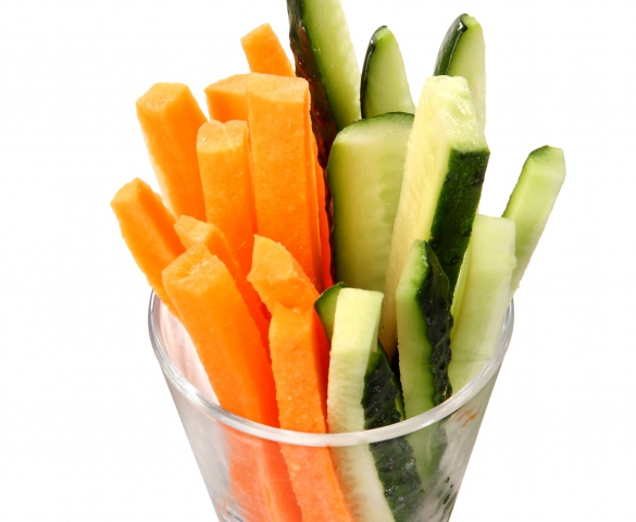 Carrot And Cucumber Sticks La Crepe