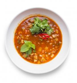 Aštri mėsos sriuba