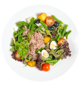 """Nicoise"" salad with homemade ""Ponzu"" sauce"