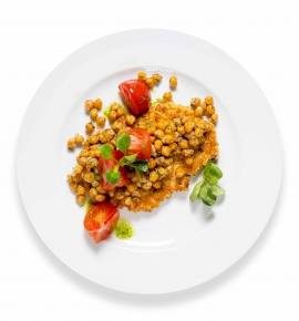 Pork chop with chickpeas
